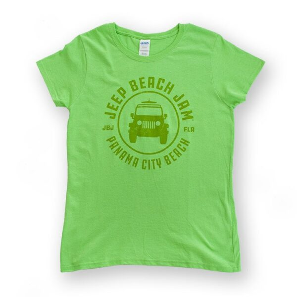 Tone on Tone Logo Tee Green - Womens